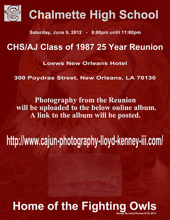 CHS/AJ Class of 1987 25 Year Reunion Saturday, June 9th, 2012 Time: 8:00pm till 11:00pm CST.  Photography By Lloyd Krnnry III (C) 2012 All Rights Reserved