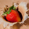 High-speed flash shots of  fruit& chocolate in milk,& chocolate milk using the HiViz Schmitt Photogate, 3/13/09.