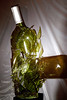 Sound-triggered High-speed flash picture, using the HiViz Delayed Sound Trigger circuit. One wine bottle smashing another.
