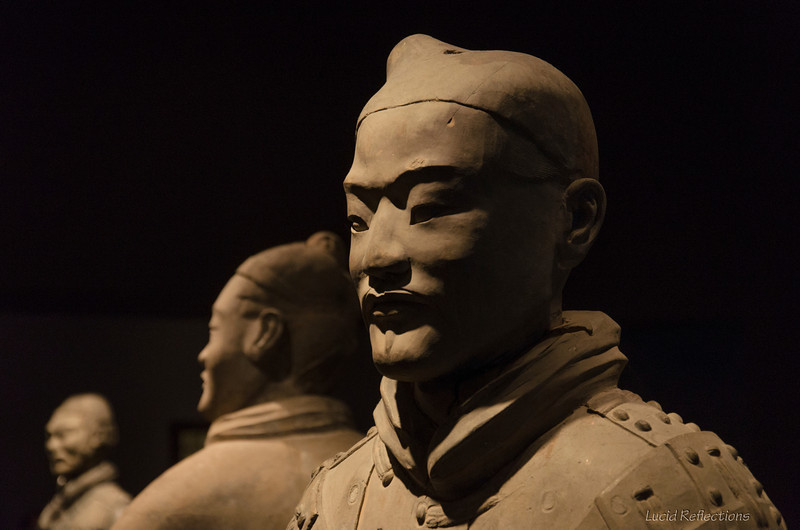 "Soldiers from an exhibit of the Terracotta Warriors. The first emperor of China had thousands of these life size realistic looking men, horses and chariot replicas buried with him. <br /> <a href=""http://en.wikipedia.org/wiki/Terracotta_Army"">http://en.wikipedia.org/wiki/Terracotta_Army</a>"