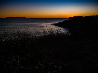 Sundown within view of Santa Catalina Island and Terranea Resort