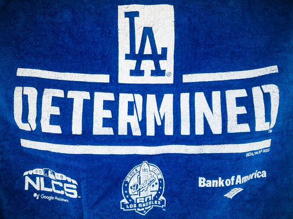 The Dodgers are back in the NLCS, but their come from behind wins and two out runs are killing me. I have decided to break out my rally towel from the only time I have ever attended a playoff series game, btu I hope I won't need it much for the rest of their run to a World Series title.