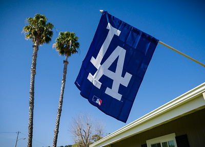 Our new LA flag waves in the breeze