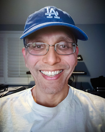 Dodgers win the World Series selfie!  I can't believe I have waited 32 years to watch the boys in blue win another World Championship...and I did so while working late in my still unfinished home office, streaming the game via YouTubeTV over wifi to the smartphone I eventually used to take THIS picture.  I am recording this moment because, thanks in part to COVID19, I am NOT with anyone who can remind me exactly where I was or what I was doing when this moment finally happened.