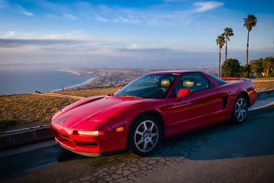With the beaches (including parking lots and even the Esplanade), parks, trails, and even vista points and turnouts closed, there aren't many places where one can catch a nice shot of one's car with a view of the ocean at sunset... unless you know residential streets with great views. #Acura #Honda #NSX #20Years #GoingNowhere #GarageQueen #SaferAtHome #SocialDistancing #BackToGTSport