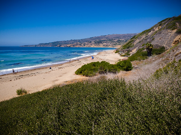 View of Rancho Palos Verdes Beach (and Terranea Resort) from near the bottom of Sunset Trail