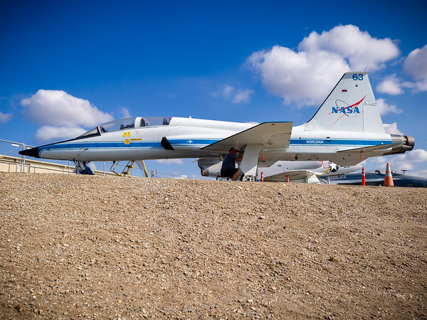 This one must have been used by NASA, perhaps as part of the astronaut training program or as a chase plane to escort returning Space Shuttles (maybe I'd learn more about this particular aircraft if I actually visited the museum)