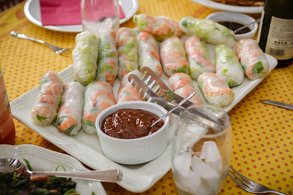 Valerie's Vietnamese spring rolls (some rolled with help from the kids)