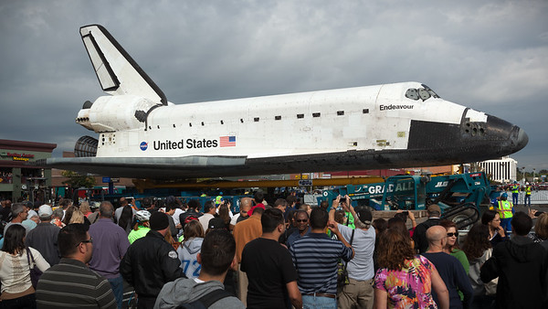 I am not alone in appreciating Shuttle Endeavour, but I can take my own photos, thank you