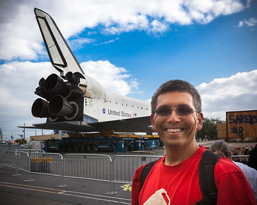 Why don't people realize you want to see the whole shuttle in shots when you have them take a photo of you posing with it?