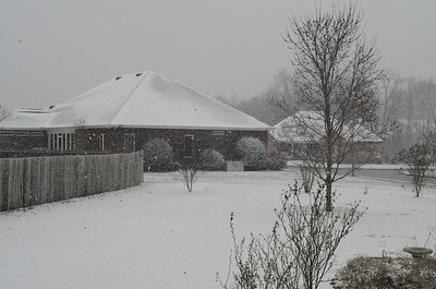About an hour later at 8am.  Still coming down.