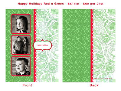 Happy Holidays red n green