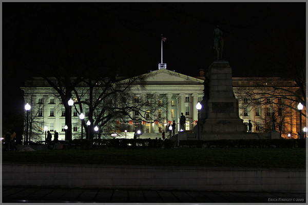 The U.S. Treasury building.