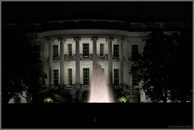 White house shot taken through the back fence.