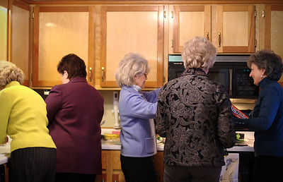 Too many cooks in the kitchen - Elizabeth, Marie, Karen, Pat, Linda.