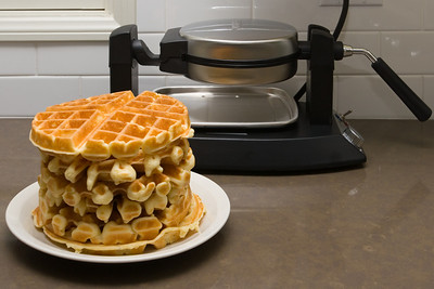 The new iron is simple to use and makes large and beautiful Belgian style waffles