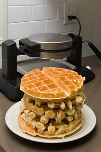 Our old waffle maker bought the farm the weekend before Christmas...thankfully, Don gave Valerie a new one as a gift just days later