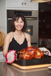 Valerie poses with her big bird