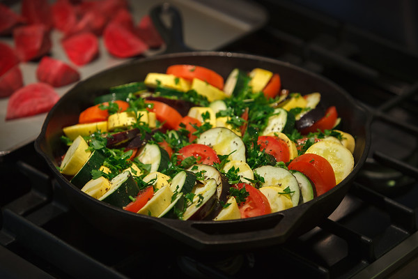 She made a ratatouille like this a couple of weeks ago and I loved it