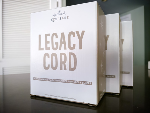 I decided to order Legacy Cords as soon as I found that I could order them directly from Hallmark's website...at their original MSRP.  If you are not logged in with an account, these display as not being available.  If you try buy these from any other online vendor, each will cost more than what I paid for three...and I needed 3 to keep my Hallmark Keepsake ornaments glowing since each strand can only support 4 ornaments.