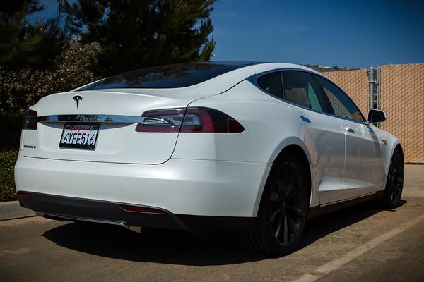 Tesla Model S in the wild!