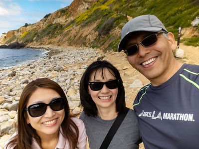 Yuna, Valerie, and I pose for a selfie in Bluff Cove