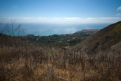 The view from near the top of Burma Road overlooks the stretch of Abalone Cove to the Terranea Resort (expected to open summer 2009)