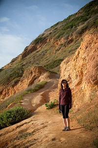 Valerie wants to take a hike, so I bring her to one of the coastline trails I used to visit back in high school