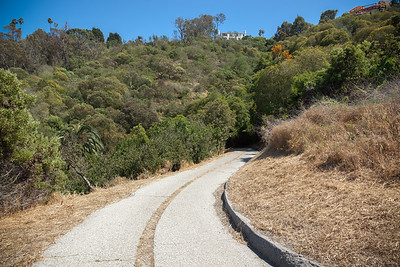 The homes overlooking this trail must have spectacular views