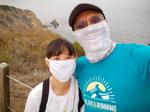 Today we are participating in the Alive & Running Virtual 5K for suicide prevention.  I have registered to run this event in the past, but, due to the unhealthy air quality, I have volunteered to assist Valerie this morning.