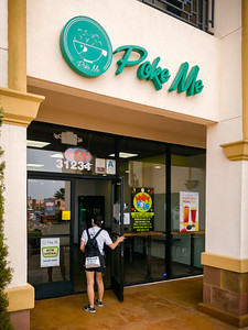 Valerie was surprised to learn there's another local poke place...and this one is actually on the peninsula, conveniently located between home and her workplace.