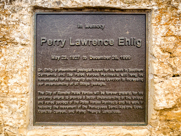 Perry Lawrence Ehlig Memorial is under the tree at the end of Portuguese Point