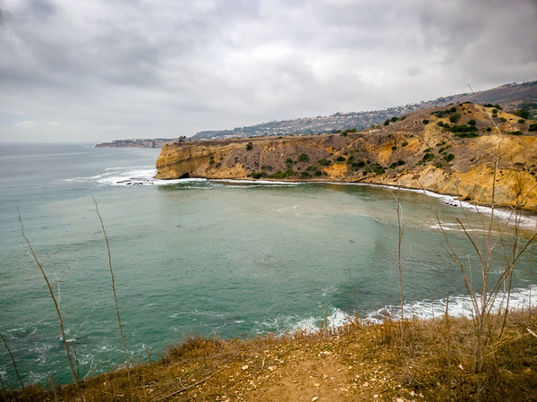 From the end of Inspiration Point, we get a less obstructed view of Terranea Resort