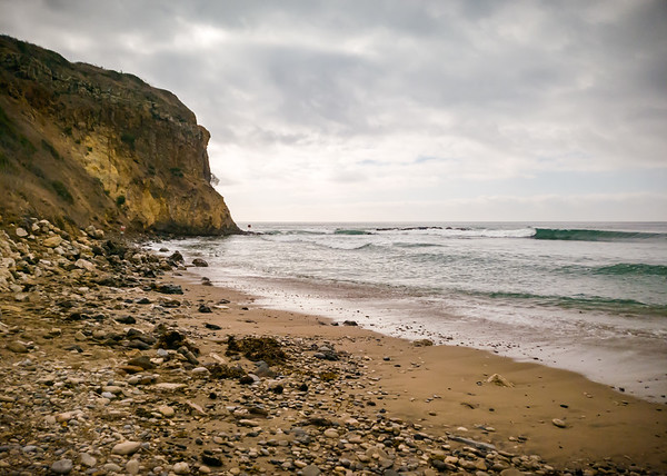 Looking back at the southwest corner of Portuguese Point from East Beach at Abalone Cove