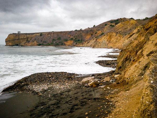 During low tide, one can walk along the coast to the cave on Portuguese Point...now not so much