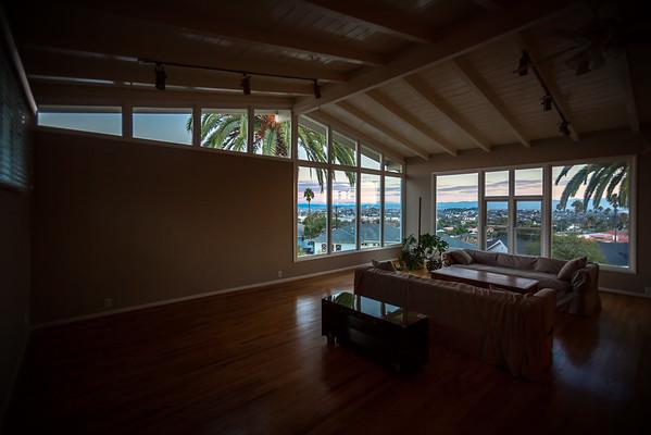 Living room around sunrise
