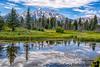 July 14, 2020 - Reflections at Schwabacher Landing, Grand Teton National Park, WY