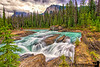 July 6, 2016 - Athabasca waterfalls, Jasper National Park ( taken tripodless!! ) <br /> <br /> still can't get over that lovely glacial water color in the Canadian Rockies !<br /> <br /> btw, D4 is lost forever, heard back from SFO airport lost and found, security, and airlines and no luck :(