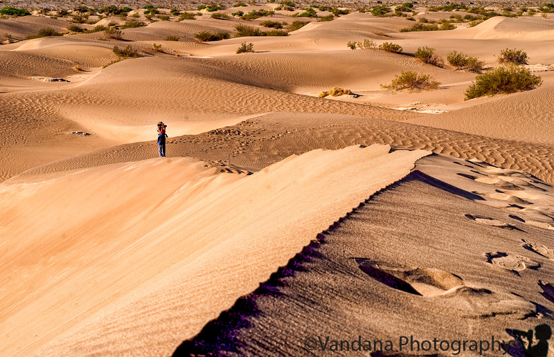 The Sand dunes and I at Death Valley National Park. pic by Krishnan