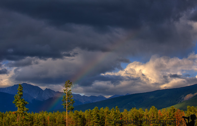 September 17, 2016 - Rainbow in Jasper<br /> <br /> some photos from Canada trip