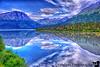 August 5, 2015 - Kenai lake reflections <br /> <br /> To Seward, AK on the Alaska Railroad