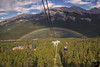 June 22, 2016 - a double rainbow at Banff<br /> <br /> view from our Banff Gondola ride.  Such a lucky day and capture, the rainbow barely stayed for a few minutes ! Such moments make the vacation so worth it even after my camera loss..