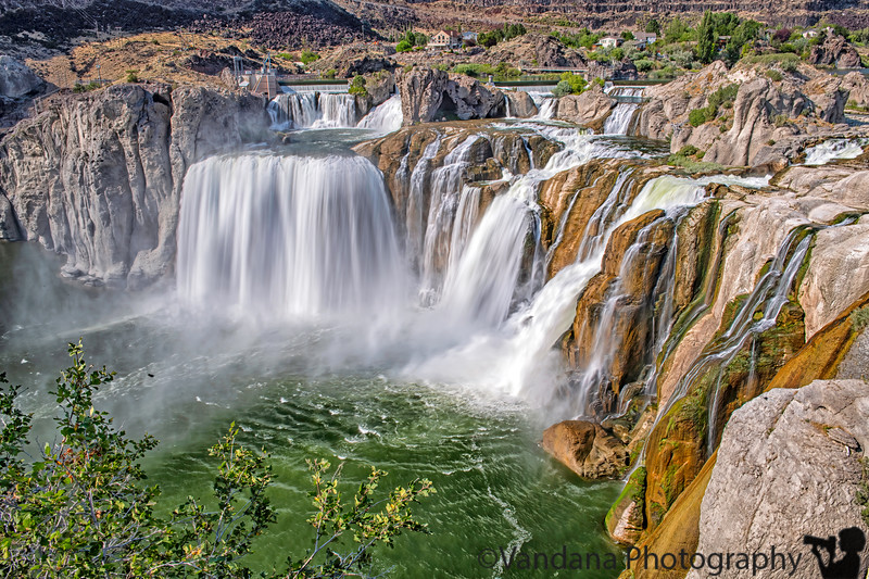 September 6, 2020 - The lovely, and huge Shoshone falls, Idaho