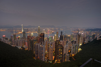 View from the peak. Mid Levels, Hong Kong Island and Kowloon
