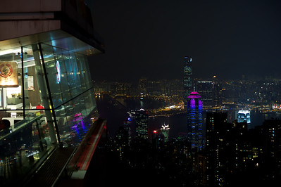 View from the peak. Mid Levels, Hong Kong Island and Kowloon, The Peak tram station
