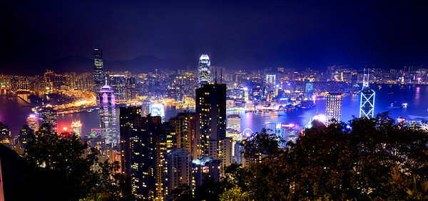 Hong Kong at night, a view from the Peak