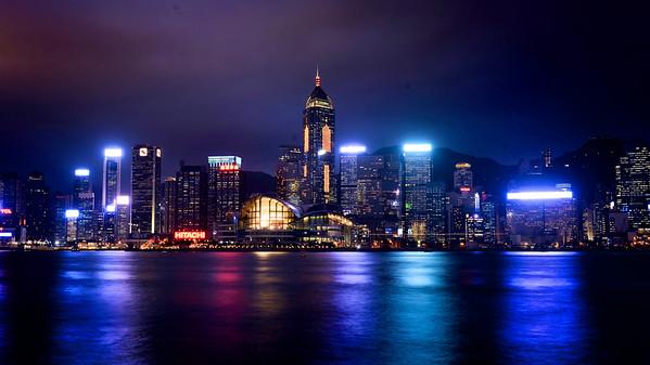 Hong Kong Convention Centre at night