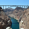 New Pat Tillman Memorial Bridge at the Hoover Dam between Arizona and Nevada
