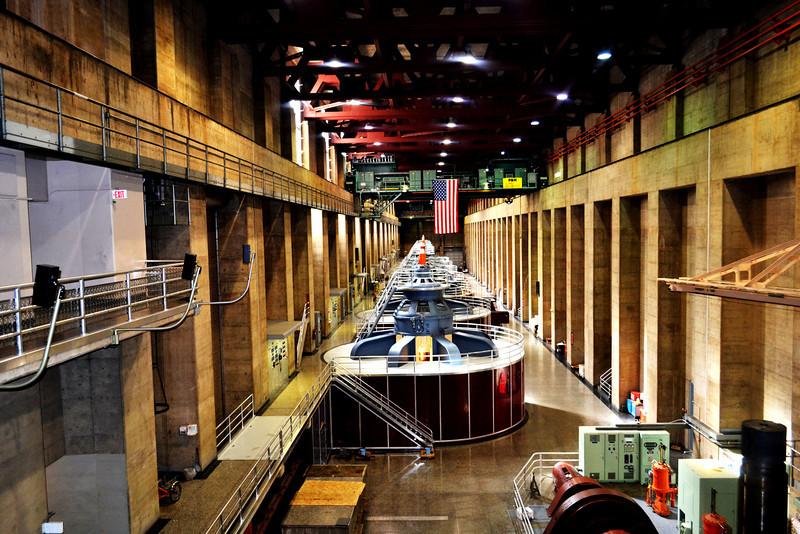 Inside Hoover Dam near Las Vegas