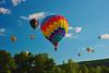 #4 Hot air balloons take to the sky at the 2014 Syracuse Balloonfest at Jamesville Beach Park near Jamesville, New York.  Photographer: Scott Thomas